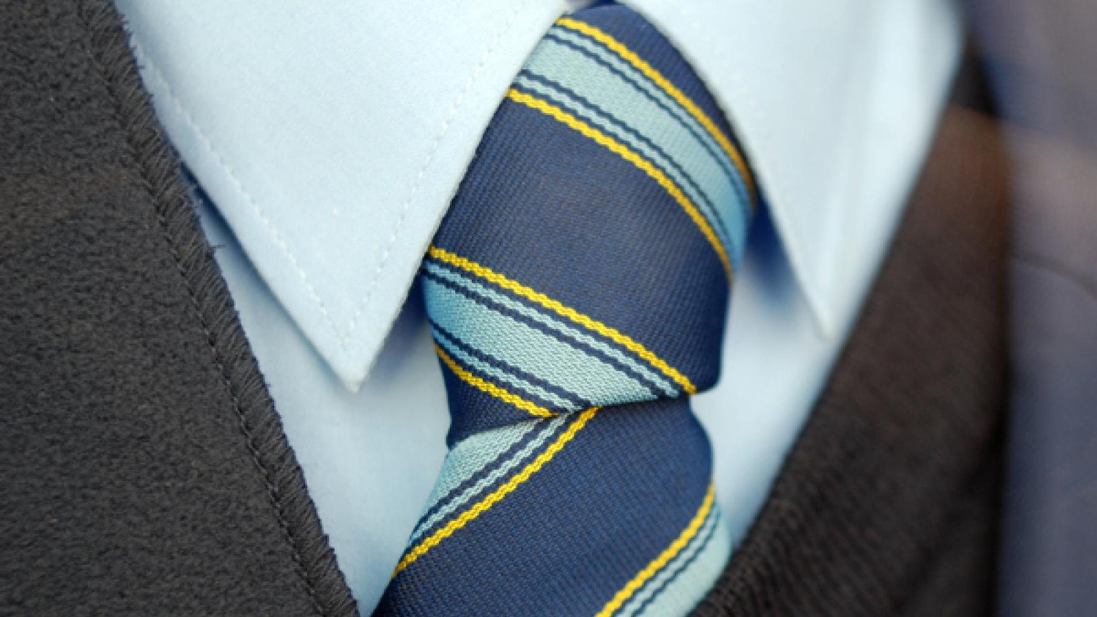 Image of school uniform - shirt, tie and blazer