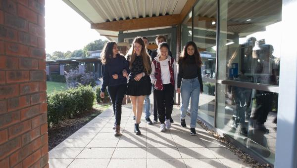 Boarders walking