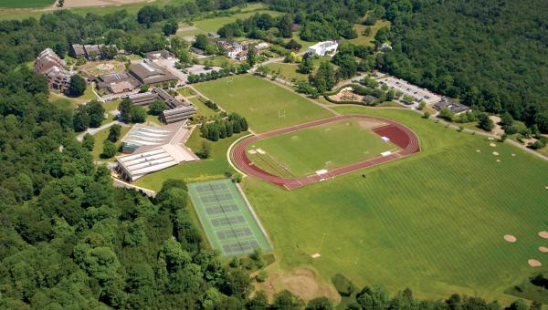 Ariel view of Sport Facilities Cobham ACS Schools