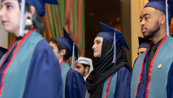 ACS Doha 2018 students at their graduation ceremony