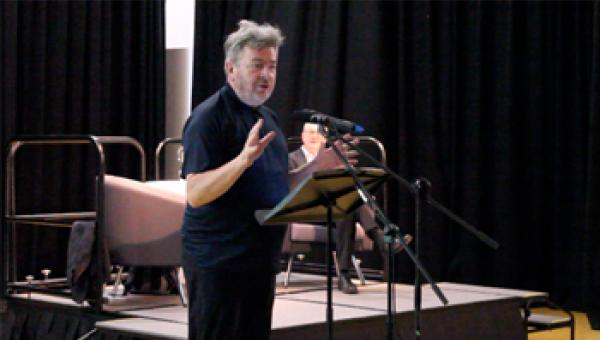 David Aaronovitch giving his talk at ACS Egham