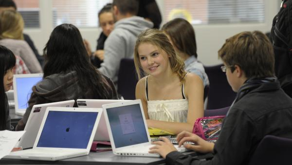 High School Pupil and Laptops