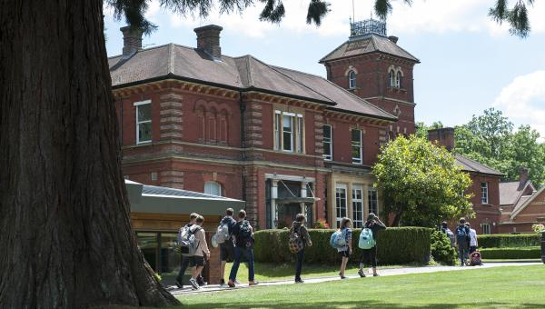 ACS Egham students walking through campus