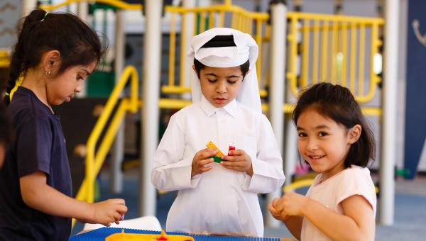Early Childhood curriculum ACS Doha children playing with Lego