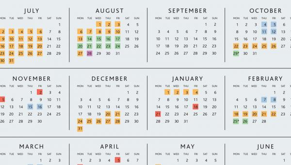 Snapshot image of ACS School Calendar