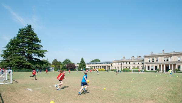 Hillingdon students play team sports on the green