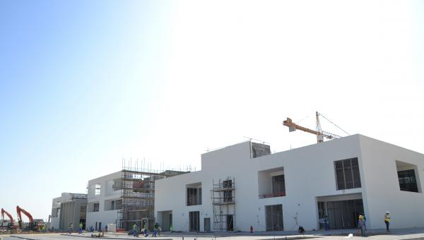 Exterior of the construction of the new ACS Doha school