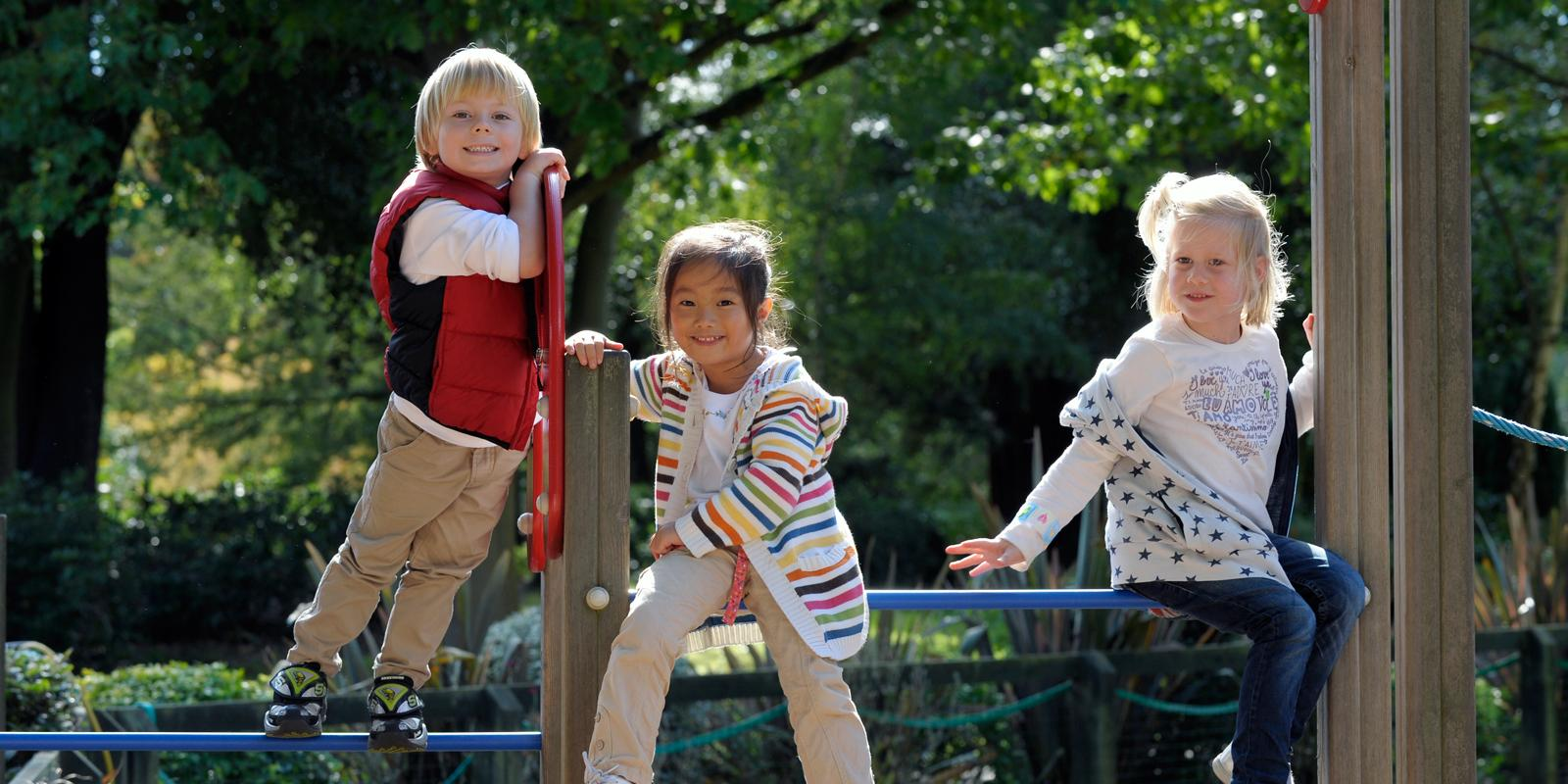 ACS Egham Lower School students playing in the playground