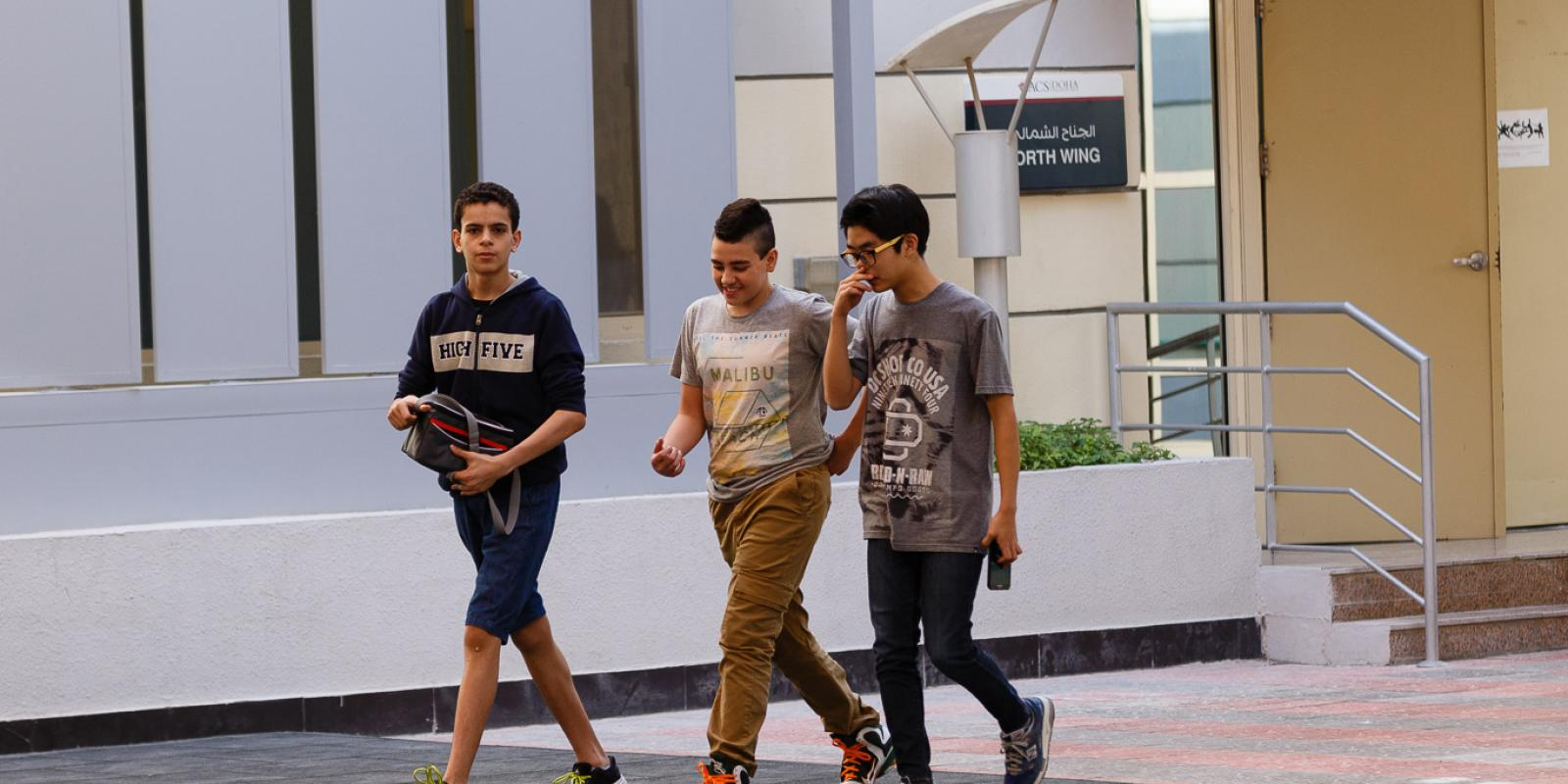 ACS Doha students leaving building