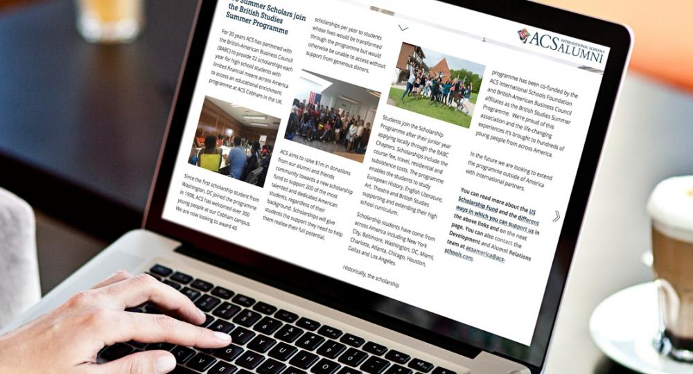 Sign up to our ACS Alumni newsletter