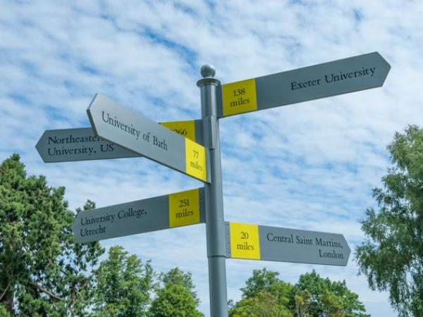 ACS Egham Universities Sign Post