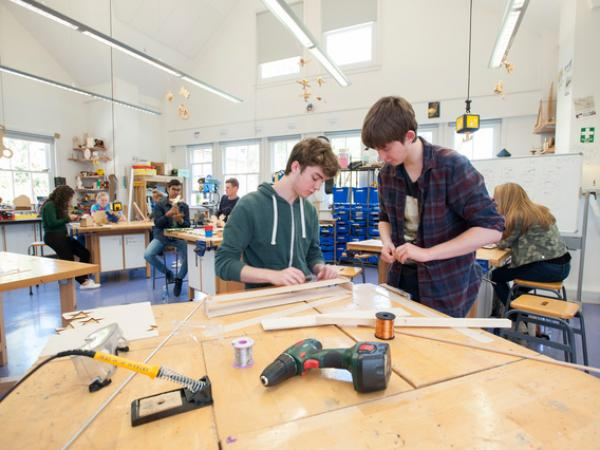 Students in a Design Technology Lesson