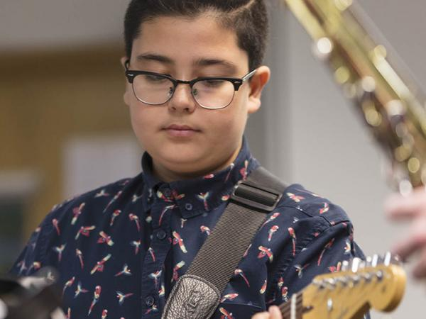 Middle School Music student