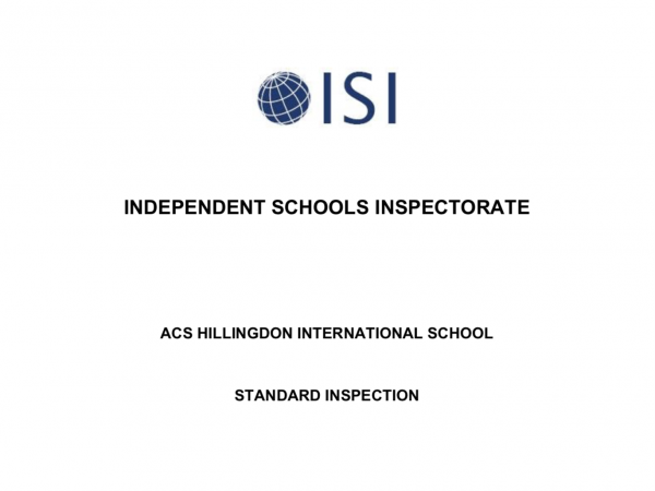 ACS Hillingdon ISI Report PDF