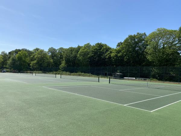 Tennis courts remain open for outdoor play