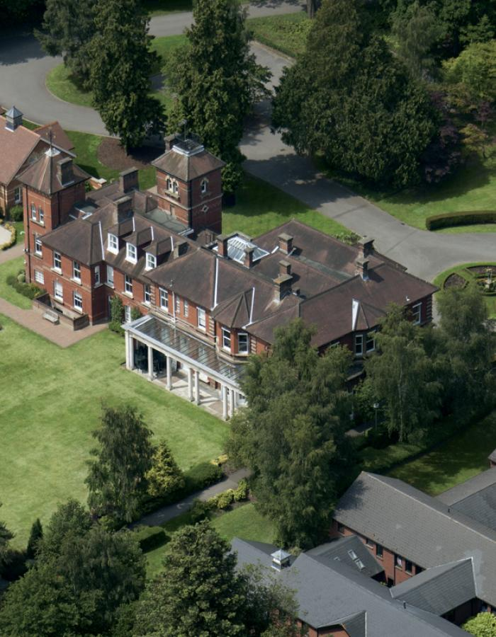 Aerial shot of ACS Egham campus