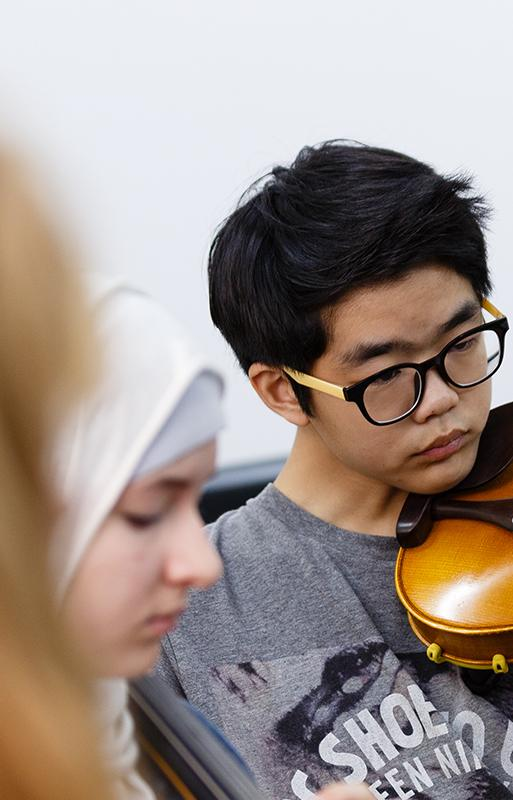 Private Music Tuition student playing violin