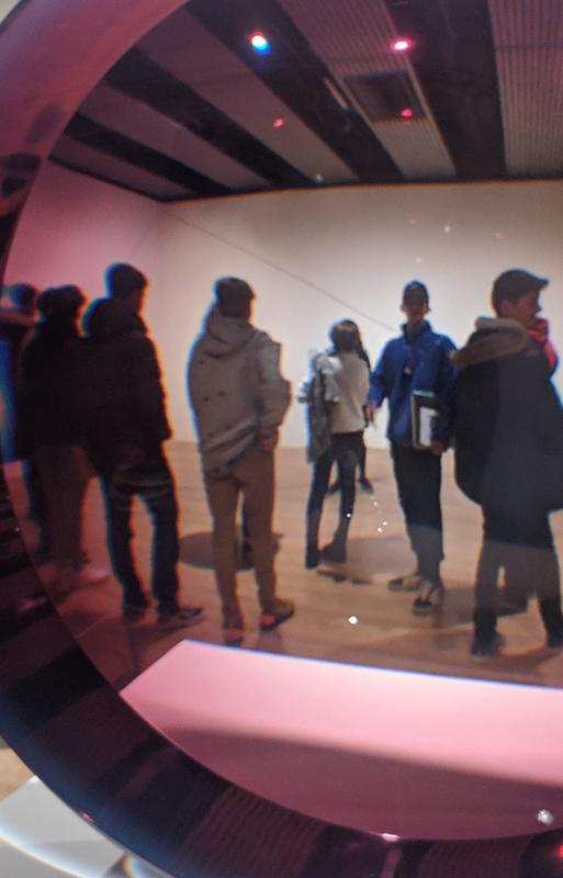 Students visiting art gallery